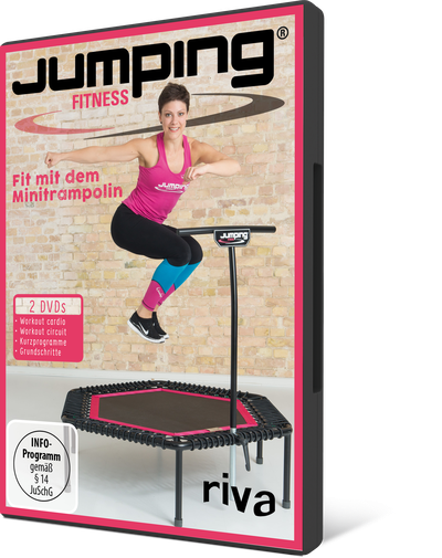 Jumping Fitness 2: cardio & circuit - Fit mit dem Minitrampolin. 2 DVDs