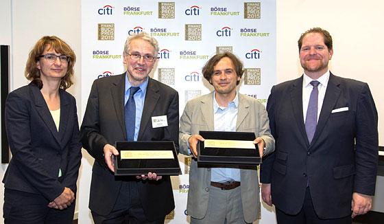 Die Preisträger und Sponsoren des Deutschen Finanzbuch Preises 2015